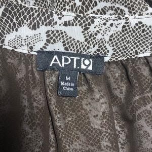 Apt. 9 Tops - Apt 9 Women's Brown Peasant Blouse